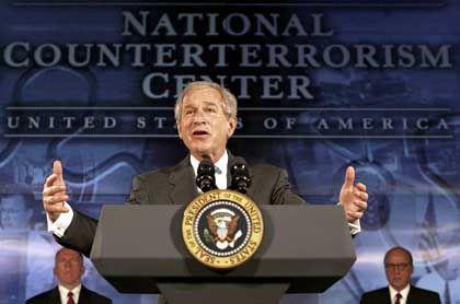 Bush im Zentrum zur Terrorismusbekämpfung: Klimawandel in Washington