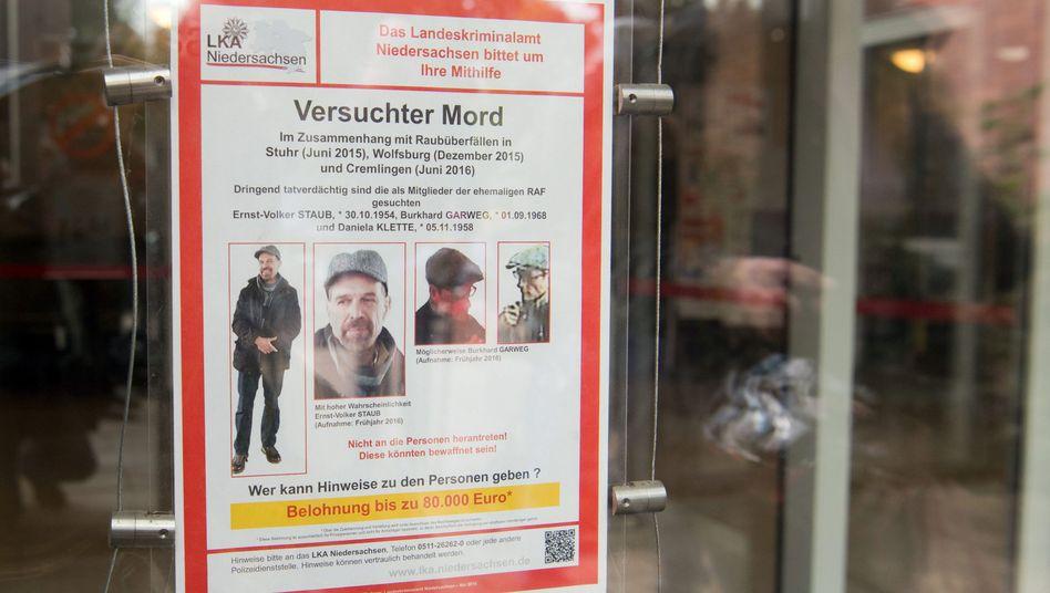 Ein Fahndungsplakat des LKA Niedersachsen