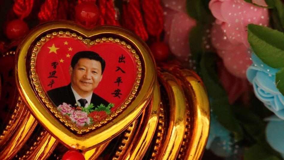 Souvenir mit dem Konterfei von Xi Jinping
