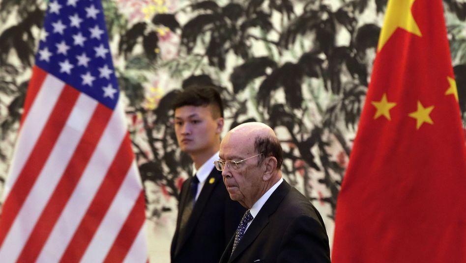 US-Wirtschaftsminister Ross bei einer Visite in China