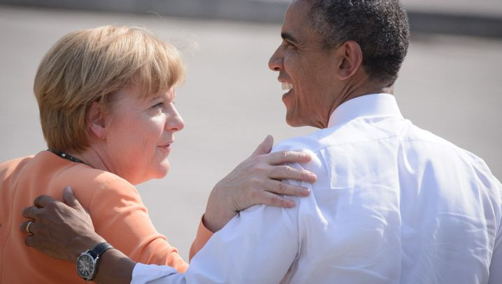 US-Präsident in Berlin: Obamas Merkel-Momente