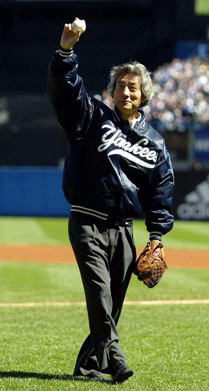 Junichiro Koizumi bei einem Spiel der New York Yankees (Archivbild von 2004)