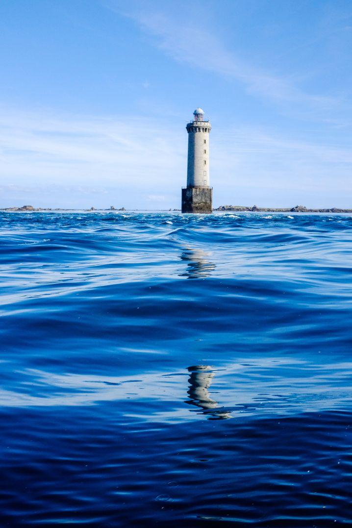 """Eine """"Hölle"""": Leuchtturm Kéréon an der Passage de Fromveur"""