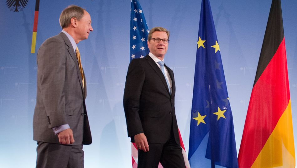 US Ambassador to Germany John B. Emerson, left, took office just months ago.