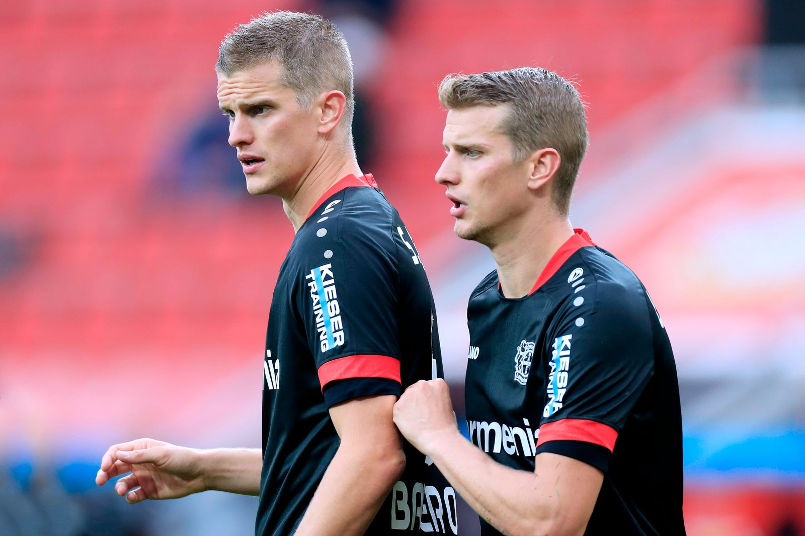 BENDER Lars und Sven Team Bayer 04 Leverkusen DFL Fussball Bundesliga Saison 2020-2021 Spiel Bayer 04 Leverkusen - RB Le