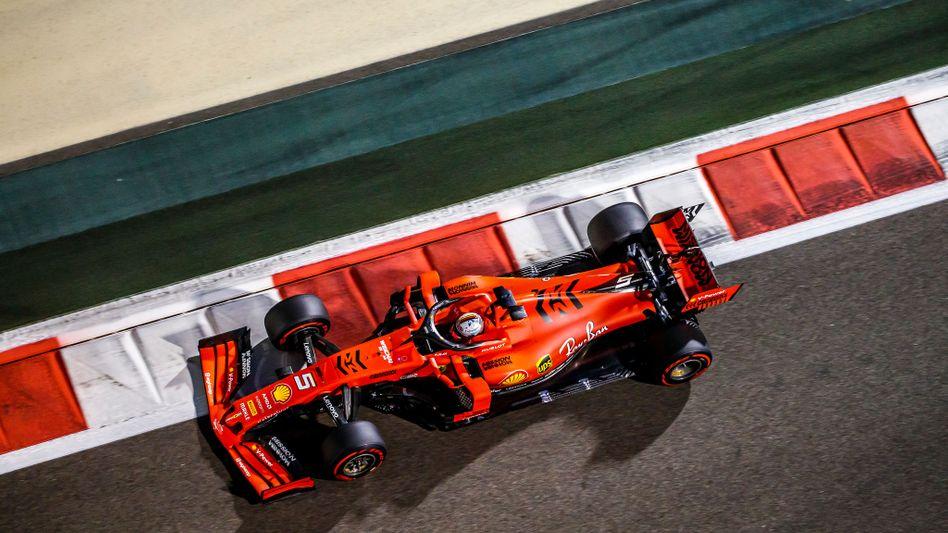 Ferrari-Fahrer Sebastian Vettel in Abu Dhabi