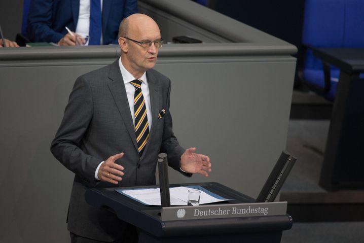 Frank Pasemann Anfang Oktober im Bundestag