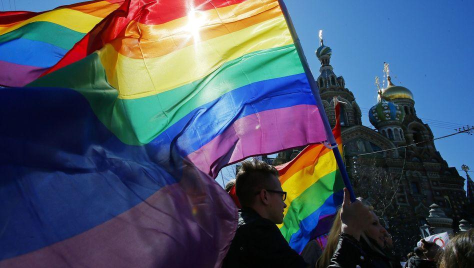 LGBT-Demonstration in St. Petersburg (Archivbild)