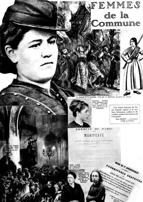 Die Frauen der Kommune, in der Mitte Elisabeth Dmitrieff