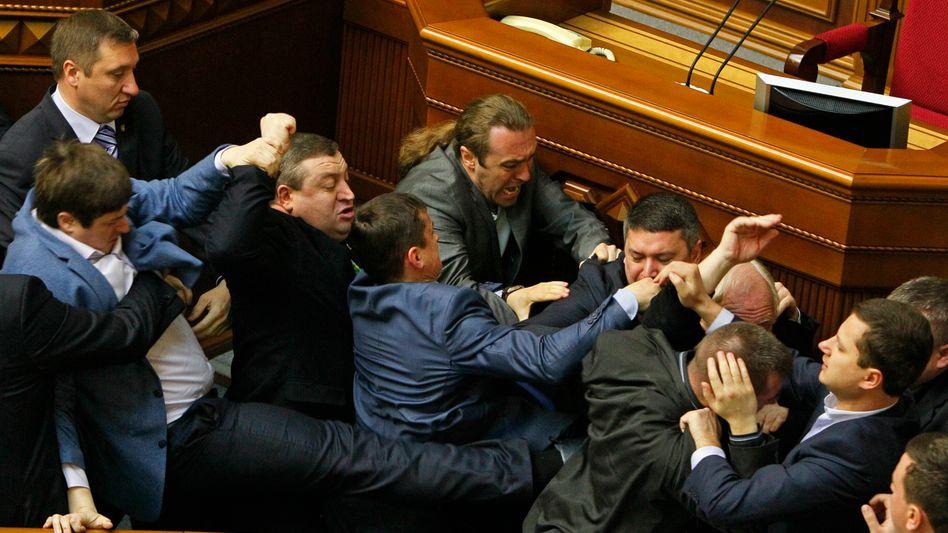 """""""Debatte"""" im ukrainischen Parlament"""
