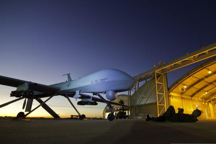 Die Drohne Predator MQ-1 auf einem Stützpunkt in Kalifornien