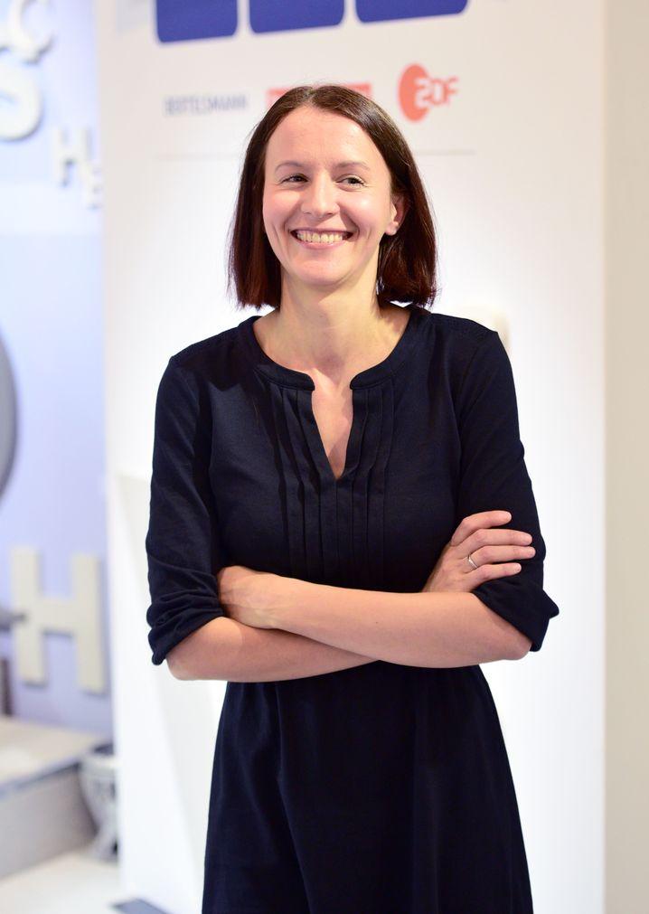 Alina Bronsky (2015 bei der Frankfurter Buchmesse)