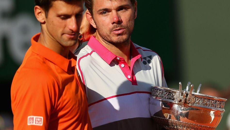 Sieger Wawrinka (r.), Djokovic: Nette Worte nach dem Finale