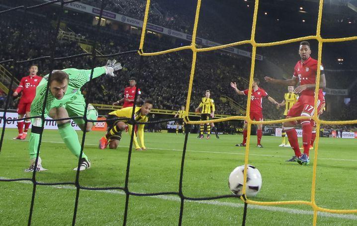 Bayern-Profis bei 0:1-Niederlage gegen Borussia Dortmund am vergangenen Samstag: Die Dominanz der Guardiola-Jahre ist verschwunden