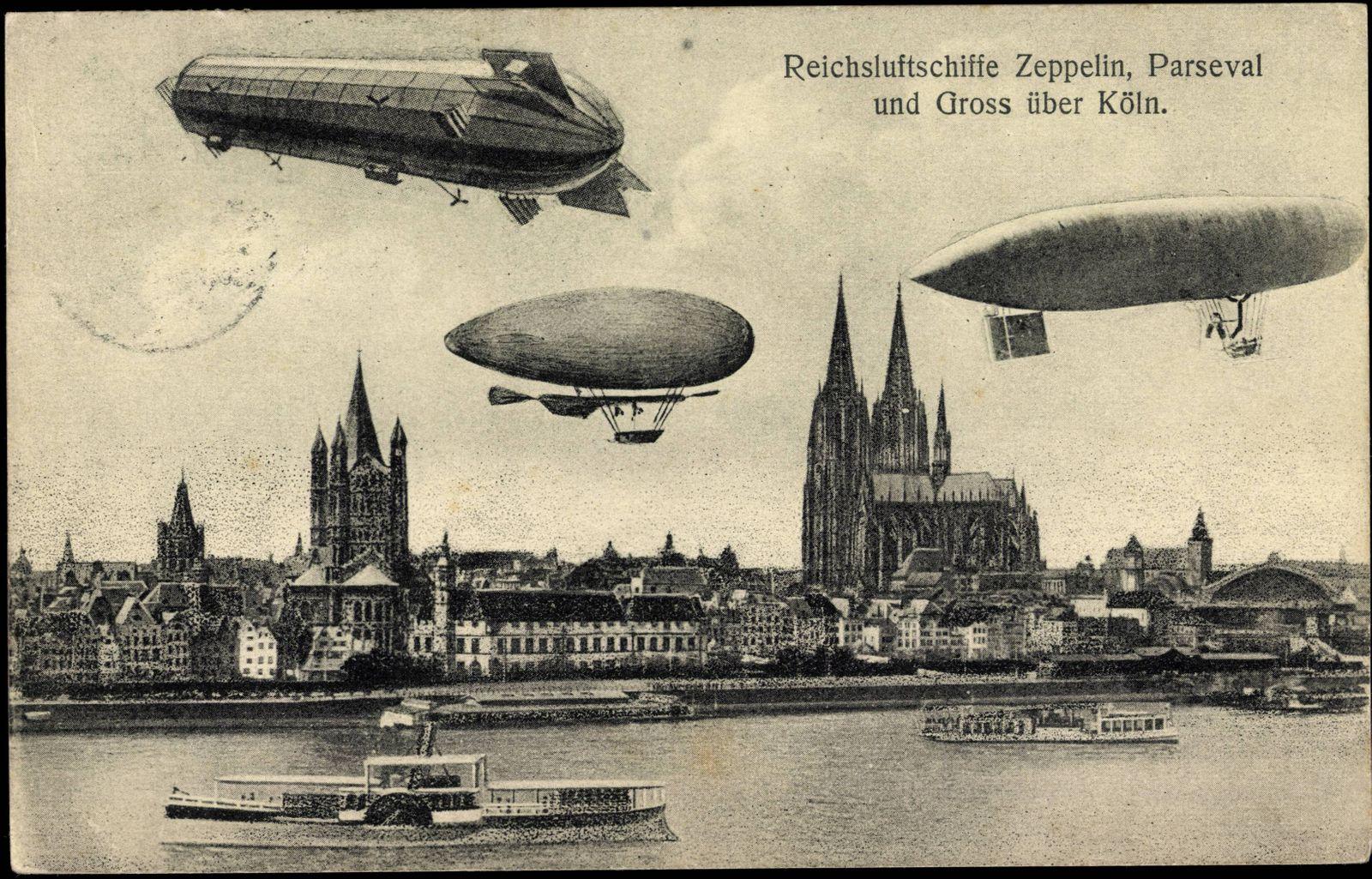 Köln Reichsluftschiffe Zeppelin Parseval Gross