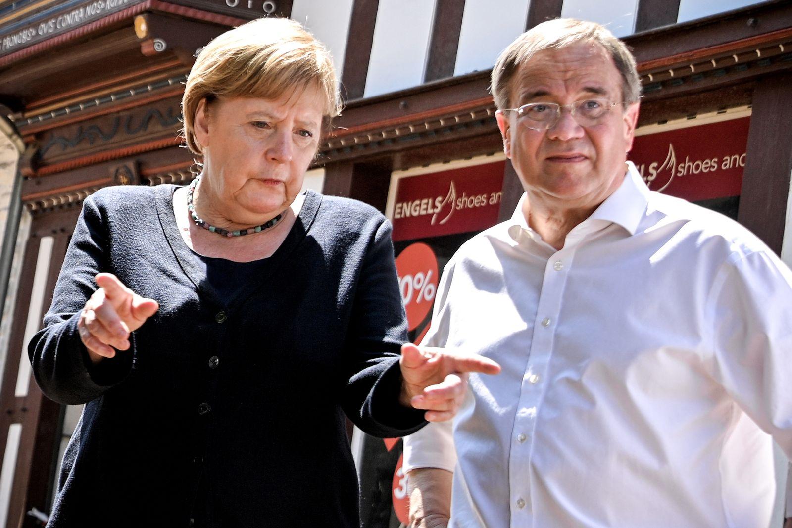 German Chancellor Merkel visits flood affected areas