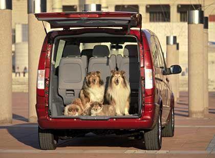 Zweite Generation des Großraummodells: Der Mercedes Viano hat ein Kofferraumvolumen von bis zu 2630 Liter