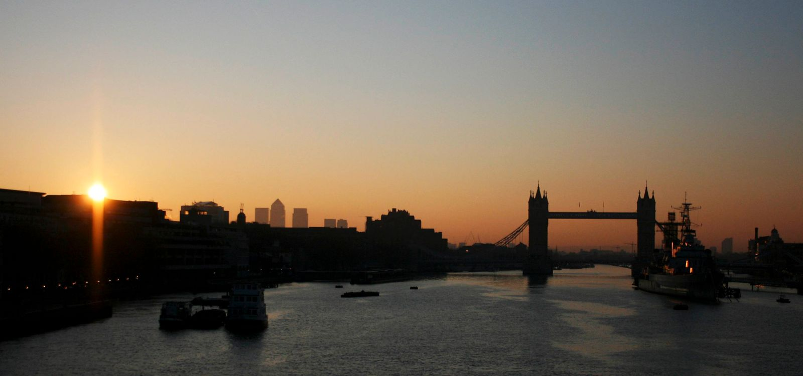 A general view of London Bridge is seen ahead of the G20 summit in London