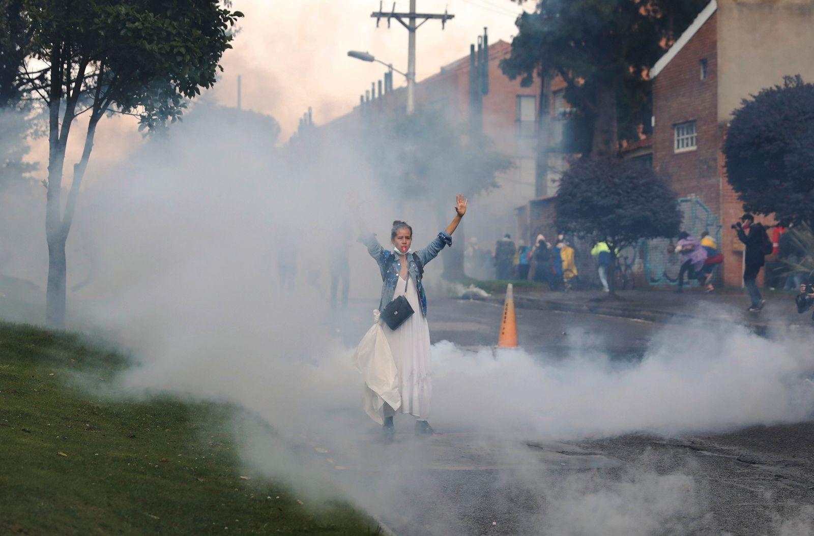 1. Mai - Demonstrationen - Bogota