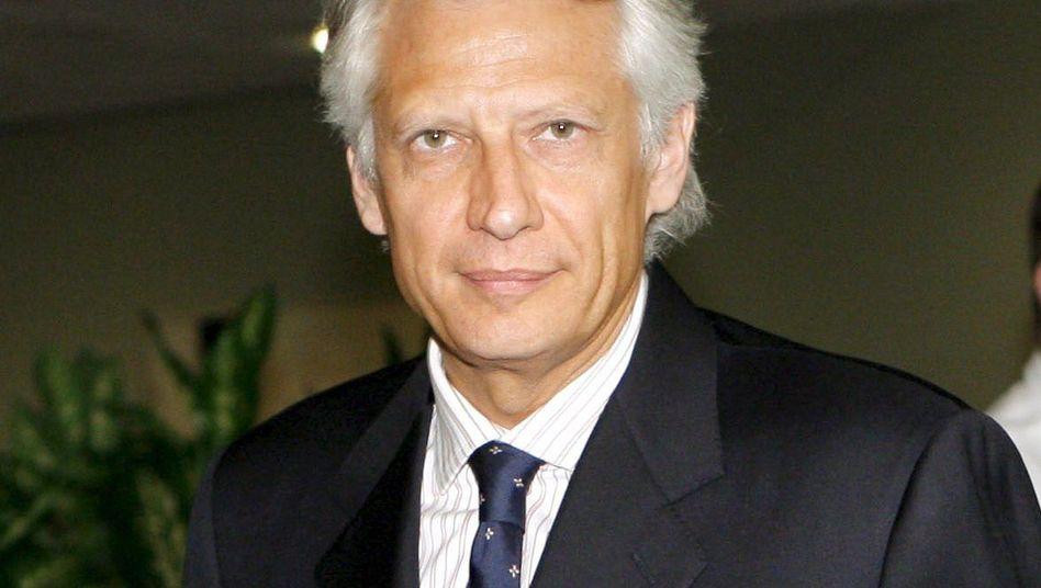 Former French Prime Minister Dominique de Villepin.