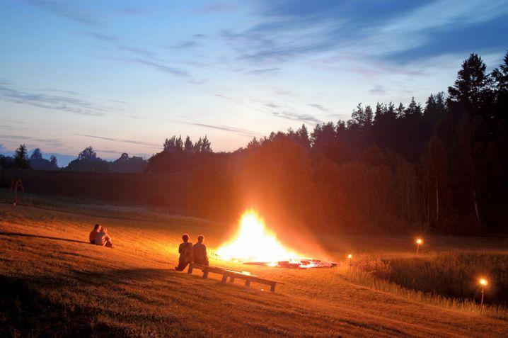 Die kürzeste Nacht des Jahres: Feiern am Feuer