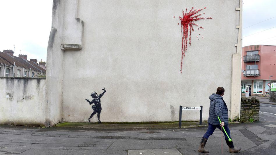 Banksy-Bild in Bristol: Über Nacht entstanden