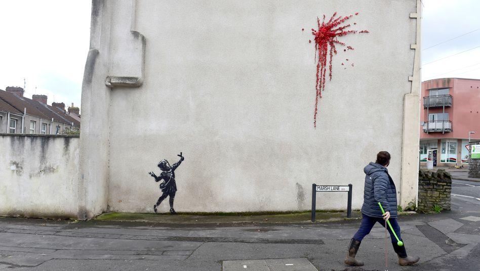 Bristol: Banksys neues Streetart-Werk zerstört