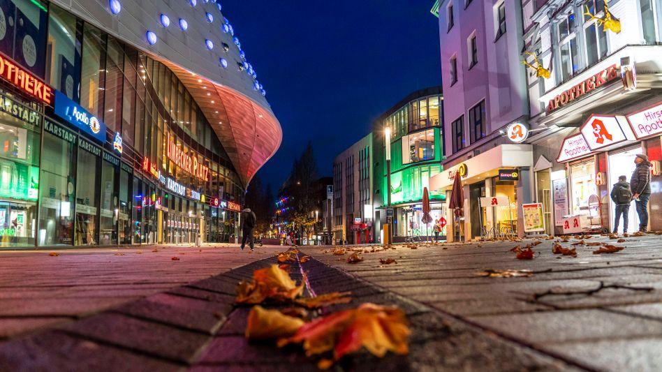 Essener Innenstadt im Shutdown: Staatskassen mit hohen Defiziten
