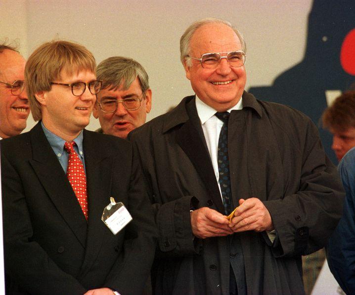 Mit Kanzler Kohl im Wahlkampf in NRW 1994