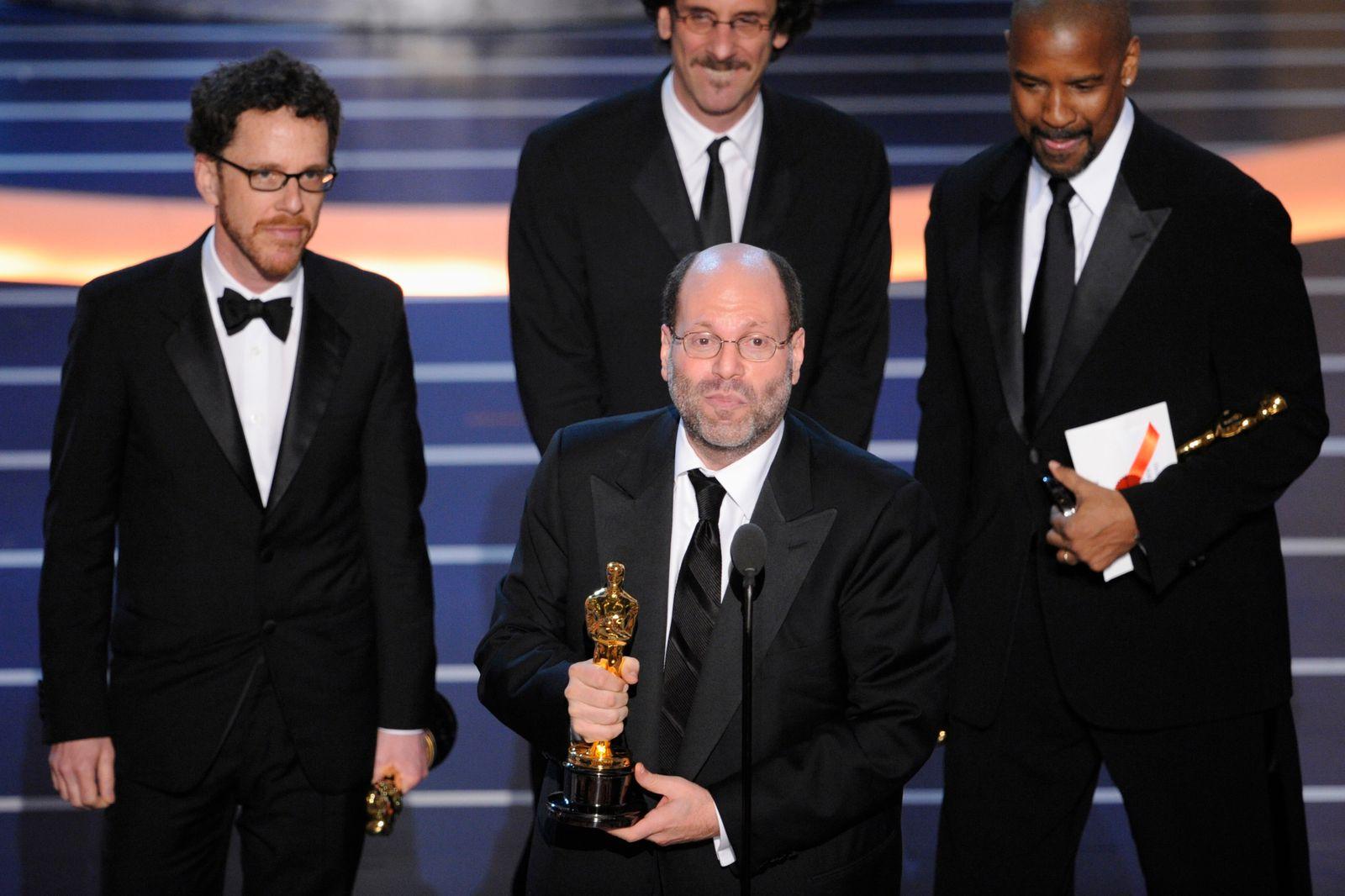Scott Rudin, Ethan Coen and Joel Coen, Denzel Washington