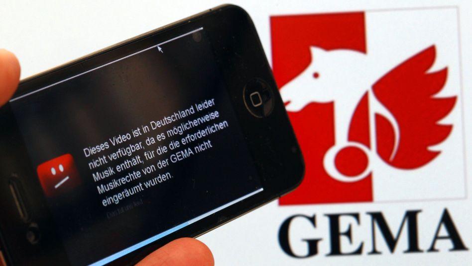 Gema-Logo: YouTube soll Schadensersatz für zwölf Lieder zahlen
