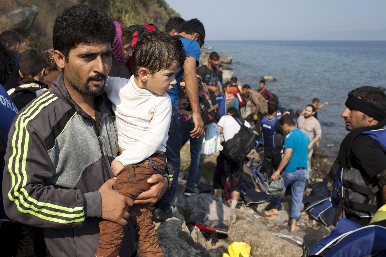 Syrische Flüchtlinge Griechenland