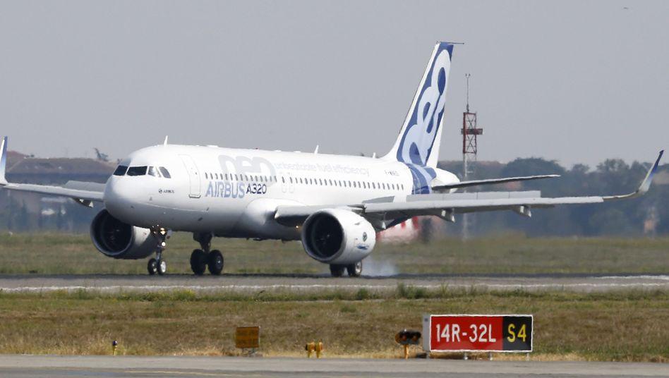 Der Airbus A320neo nach seinem Erstflug