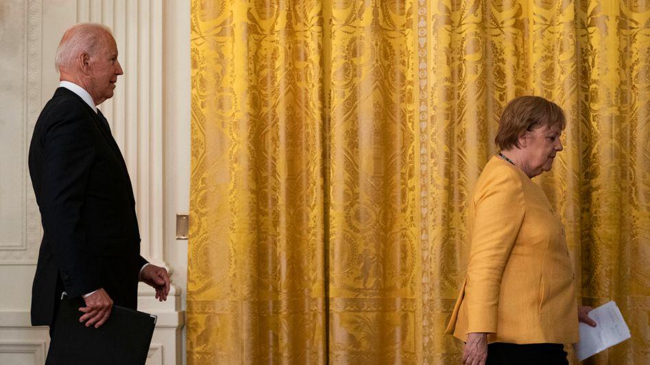 US-Präsident Biden, Kanzlerin Merkel am Donnerstag im Weißen Haus: »Frau Bundeskanzlerin, Sie waren ja schon mehrfach hier«