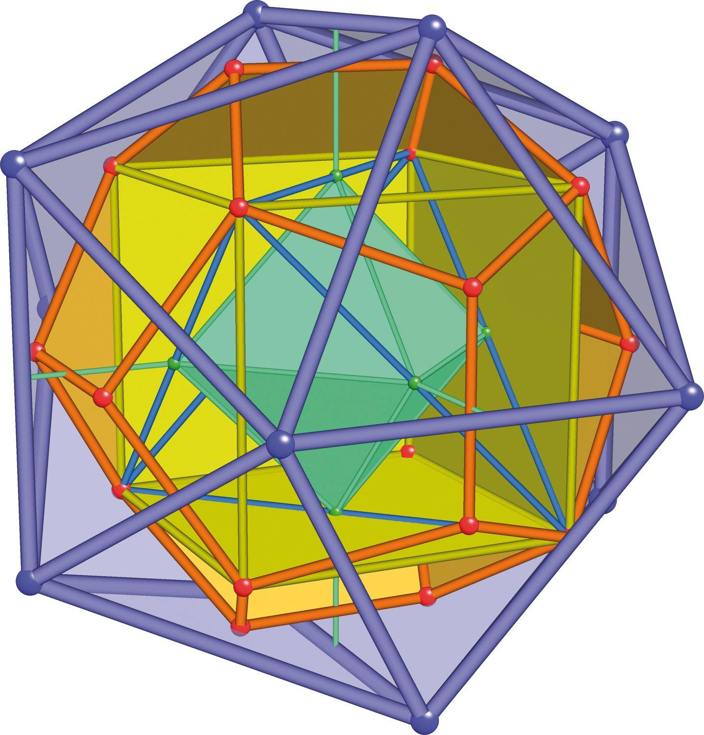 EINMALIGE VERWENDUNG Geometrische Körper / platonic Cells With Frame
