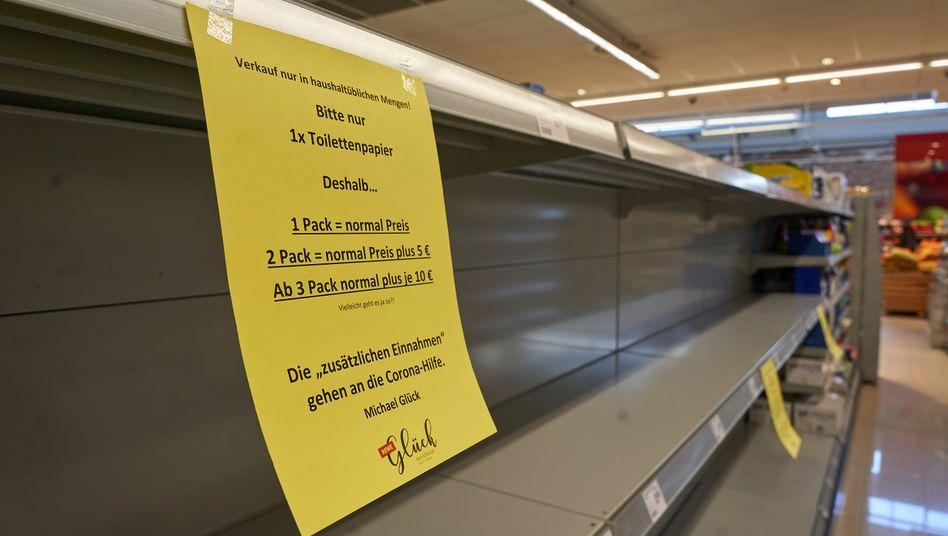 Leere Supermarktregale: Irrationaler Nachfrageschub