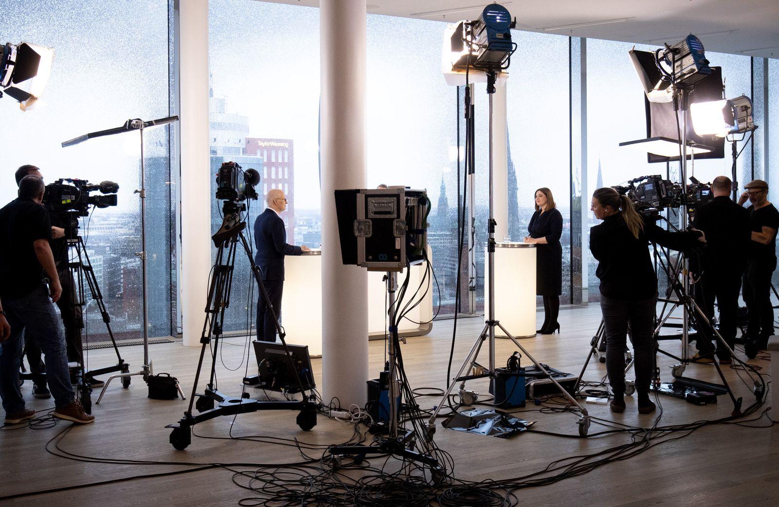 TV-Wahlduell der Hamburger Spitzenkandidanten