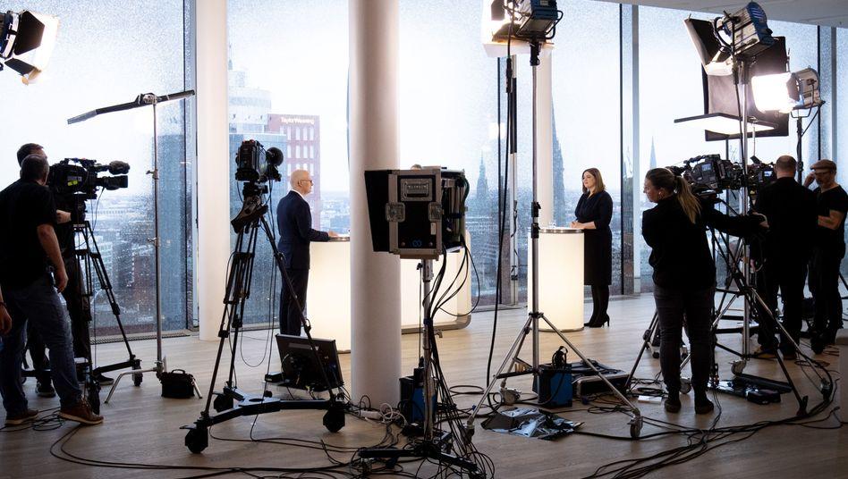 TV-Duell vor der Hamburger Wahl: Gleich zum Auftakt wurde gegrillt