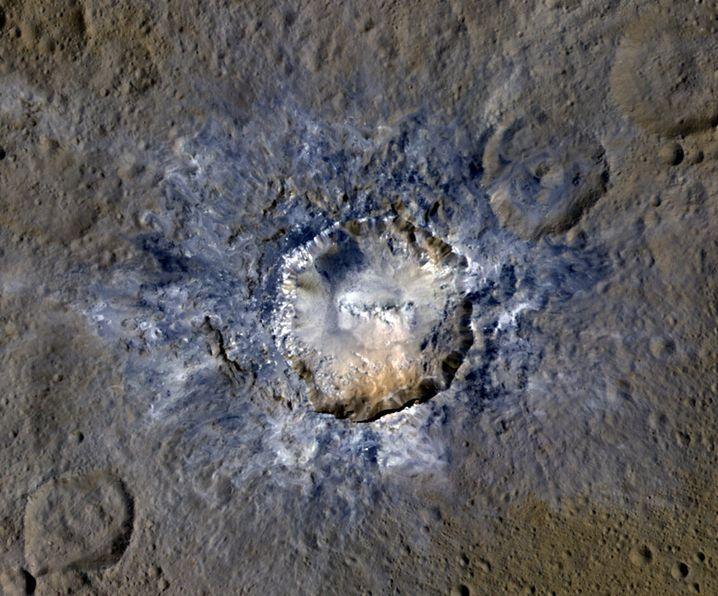Haulani -Krater auf Ceres