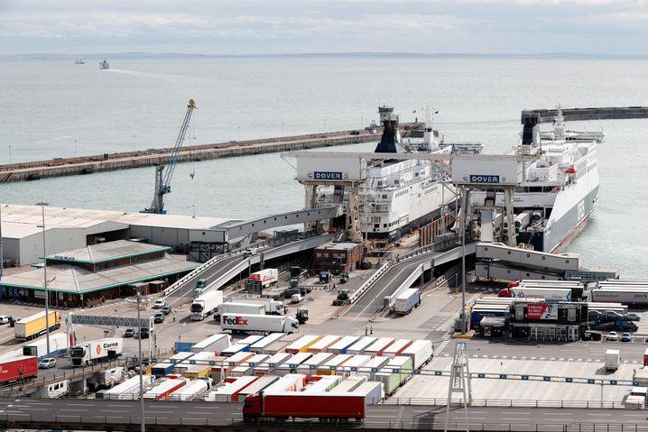 Fährhafen von Dover (Archivbild): Besonders umfassend kontrolliert werden dürften etwa Lkw mit bestimmten Pflanzen oder Tierprodukten