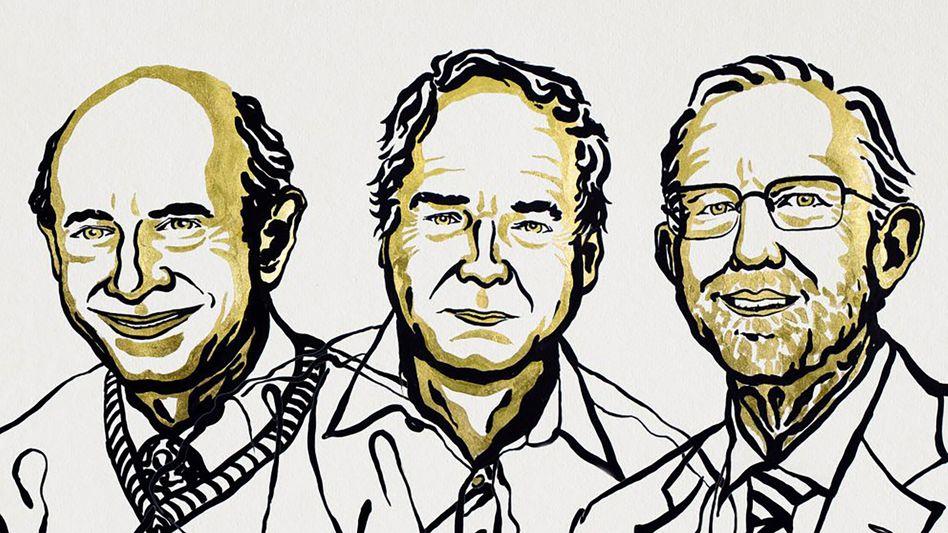 Harvey J. Alter (l.), Michael Houghton (M.) und Charles M. Rice (r.)