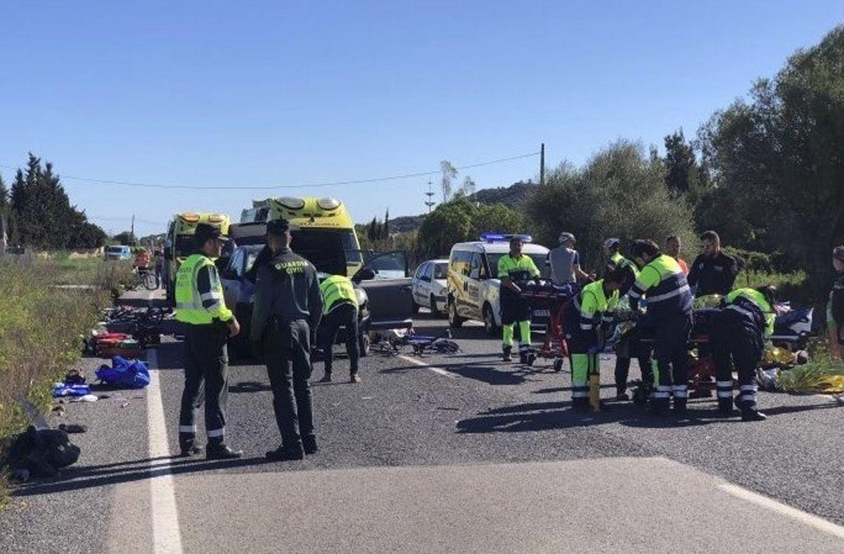 Mallorca Unfall Radfahrer