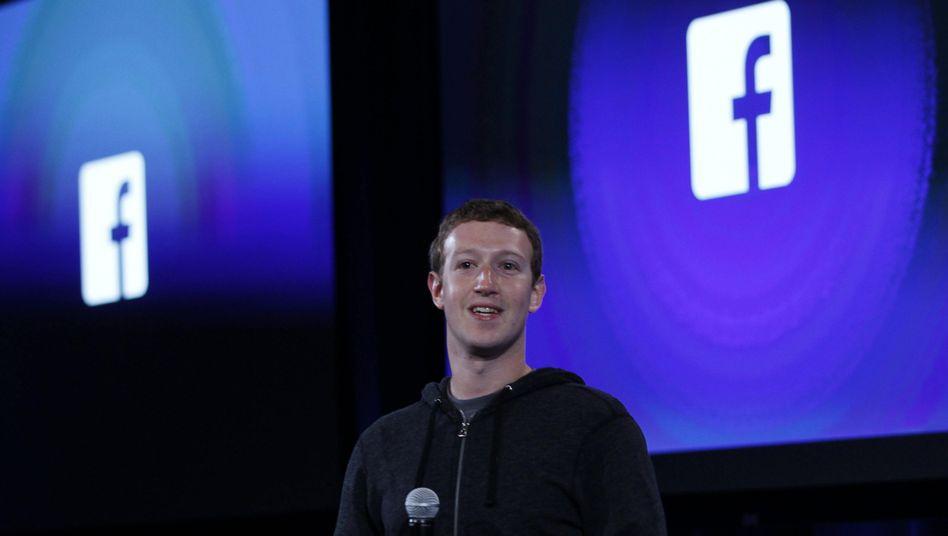 Facebook-Chef Mark Zuckerberg: Glänzende Zahlen im ersten Quartal