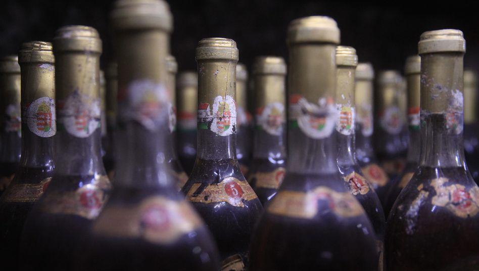 Alte Weinflaschen: Resveratrol galt als besonders gesundheitsfördernder Stoff