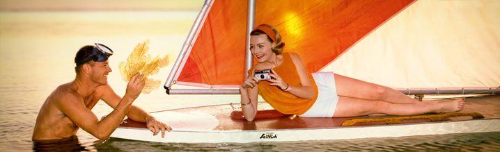 Man and woman at sailboard 1968, Norman C. Kerr / Donald Buck