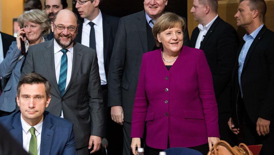 GroKo-Spitzenverhandler in Berlin (Bild vom Freitag)