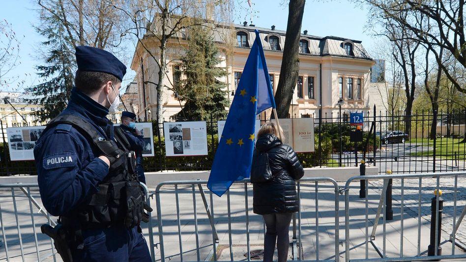 Verfassungsgericht in Warschau (April 2021): »Nur wir Polen können uns dem erfolgreich entgegenstellen«