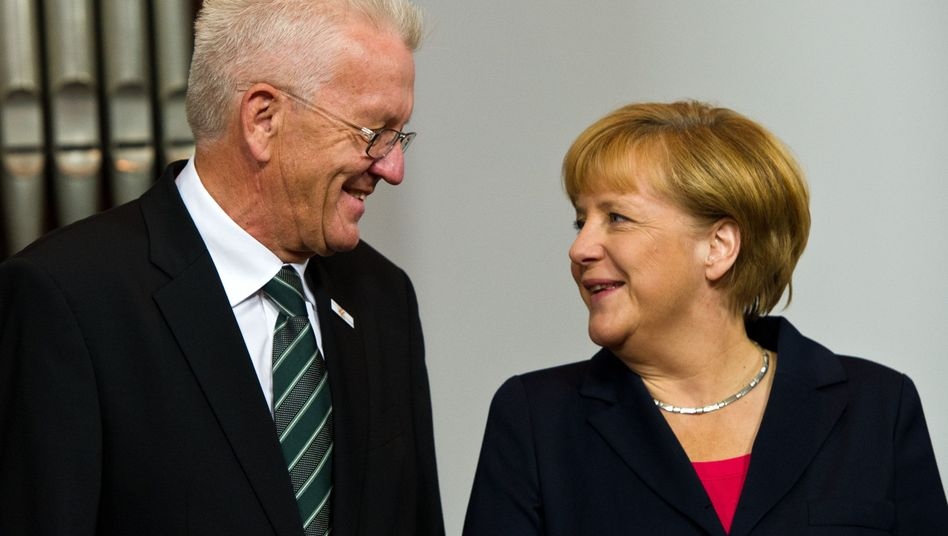 Angela Merkel und Winfried Kretschmann (im Oktober 2013)