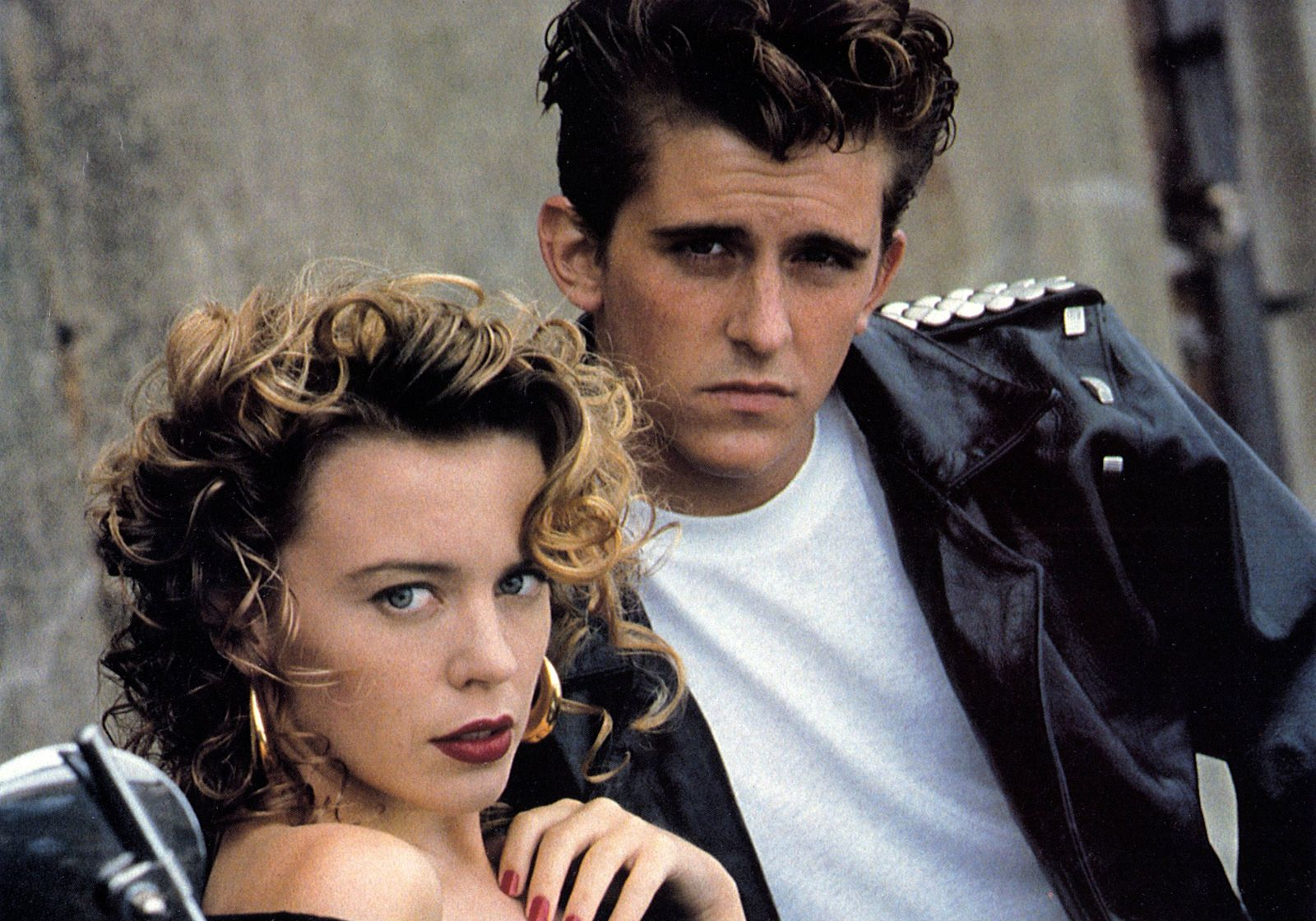 Kylie Minogue & Charlie Schlatter Characters: Lola Lovell, Brownie Hansen Film: The Delinquents (1989) Director: Chris T