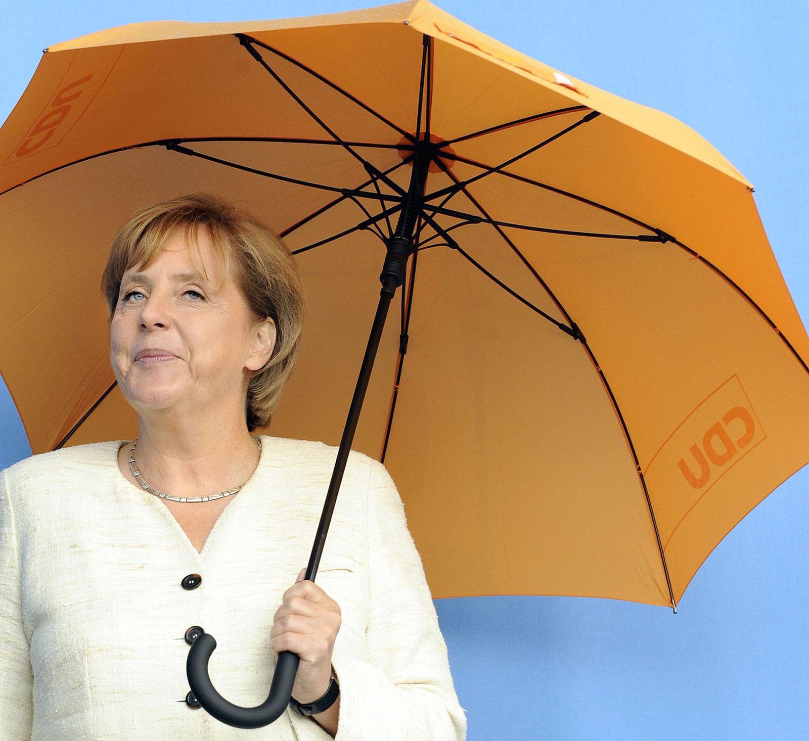 NICHT VERWENDEN Merkel Wahlkampf auf Norderney